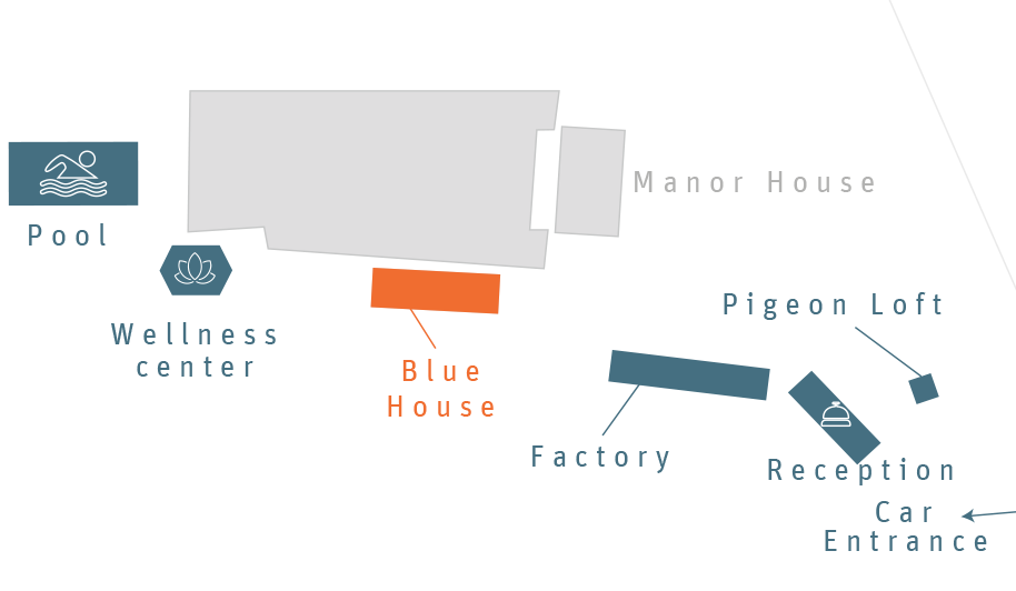 Plan of the blue house