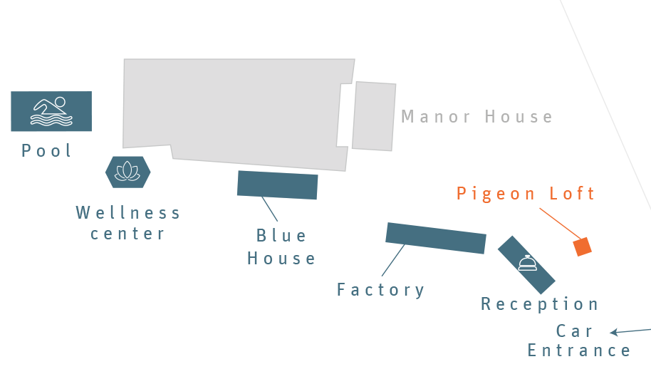 Plan of the pigeon loft
