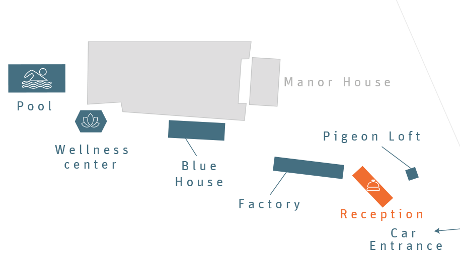 Plan of the reception